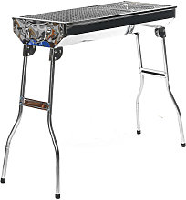 Foldable Charcoal BBQ Grill Stainless Steel Stove