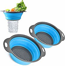 Foldable Colander Set (Large and one Small),