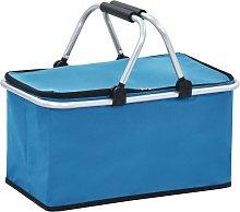 Foldable Cool Bag Blue 46x27x23 cm Aluminium - Blue