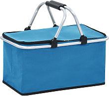 Foldable Cool Bag Blue 46x27x23 cm Aluminium