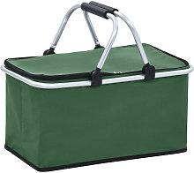 Foldable Cool Bag Green 46x27x23 cm Aluminium