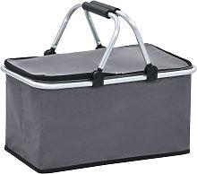 Foldable Cool Bag Grey 46x27x23 cm Aluminium