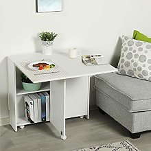 Foldable Dining Table, Mobile Drop Leaf Dining