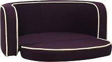 Foldable Dog Sofa Burgundy 76x71x30 cm Linen