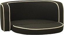 Foldable Dog Sofa Dark Grey 76x71x30 cm Linen