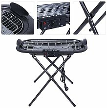 Foldable Electric Barbecue Grill Outdoor Indoor