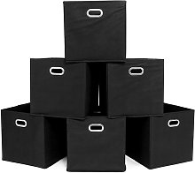 Foldable Fabric Storage Bins Set of 6 Cubby Cubes