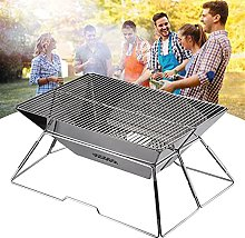 Foldable Fire Pit, Stainless Steel Foldable