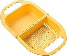 Foldable Fruit Vegetable Washing Basket Strainer
