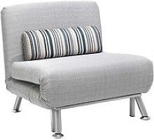 Foldable Futon Sofa Bed Grey - Homcom