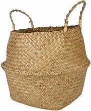 Foldable Hand-woven Wood Flower Basket Storage