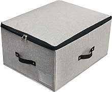 Foldable Lidded Storage Bin with Divider Board, 4