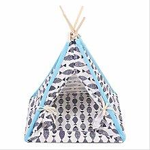Foldable Linen Pet Dog House Kennels Washable Tent