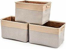 Foldable Linen Storage Box with Handles, Storage
