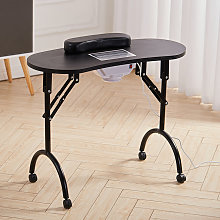 Foldable Manicure Table Nail Beautician Desk With