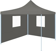 Foldable Party Tent Pop-Up with 2 Sidewalls 3x3 m