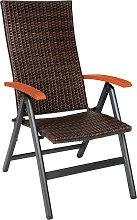 Foldable rattan garden chair Melbourne - brown