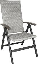Foldable rattan garden chair Melbourne - light grey
