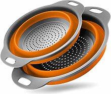 Foldable Silicone Drain Basket Colander Basket