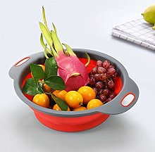 Foldable Silicone Strainers Collapsible Colander