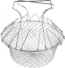 Foldable Steam Rinse Deep Fry Magic Basket Mesh
