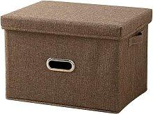 Foldable Storage Basket Storage Box with Lid Bin