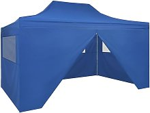 Foldable Tent Pop-Up with 4 Side Walls 3x4.5 m