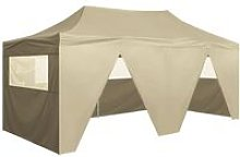 Foldable Tent Pop-Up with 4 Side Walls 3x6 m
