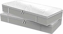 Foldable Underbed Bag 2pcs Save Space With Clear