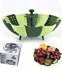 Foldable Vegetable Steamer, Food Basket mesh