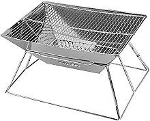 Folded Charcoal BBQ Grill Set, Portable Folding