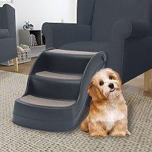 Folding 3-Step Dog Stairs Dark Grey8595-Serial