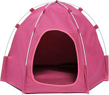 Folding Animal Pop-up Tent for Dog Cat Pink LAVENTE