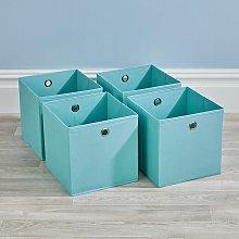 Folding Aqua Blue Square Storage Utility Box 4