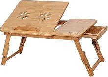 Folding Bamboo Bed Laptop Desk, Portable Folding