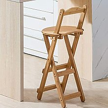 Folding Bar Stools, Solid Wood Bar Chair with