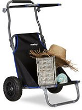 Folding Beach Cart, Lounger with Roof and Wheels,