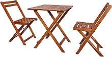 Folding Bistro Set, Outdoor Furniture Set Wooden