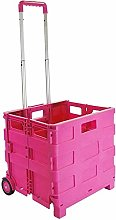 Folding Boot Cart Shopping Trolley with Wheels