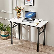 Folding Computer Desk with Iron Legs Portable
