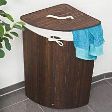 Folding Corner Laundry Bin Brambly Cottage Finish: