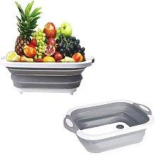 Folding cutting board Cuisine vegetable basin