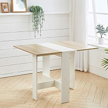 Folding Dining Table Wooden Drop Leaf Desk Compact