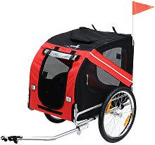 Folding Dog Carrier Bicycle Pet Trailer Steel