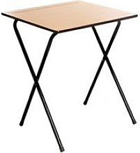 Folding Exam Desk, Beech, Free Express Delivery