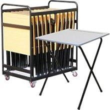 Folding Exam Desk Bundle Deal (25 Desks & 1