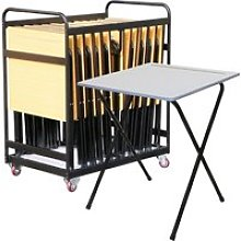 Folding Exam Desk Bundle Deal (25 Desks & 1