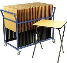 Folding Exam Desk Bundle Deal, Grey, Free Standard