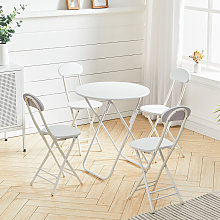 Folding Garden Table Dining Table and 4 Chairs
