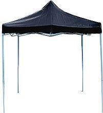 Folding gazebo tent canopy black 250x250cm -